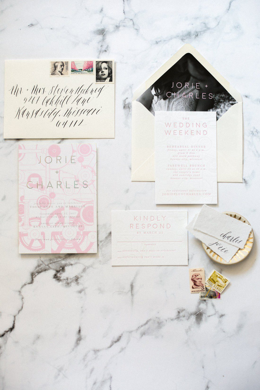 Kansas City Wedding Styled Shoot Winery Invitation Suite