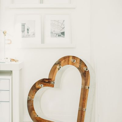 Lovestruck wedding planner office heart in Midwest Omaha