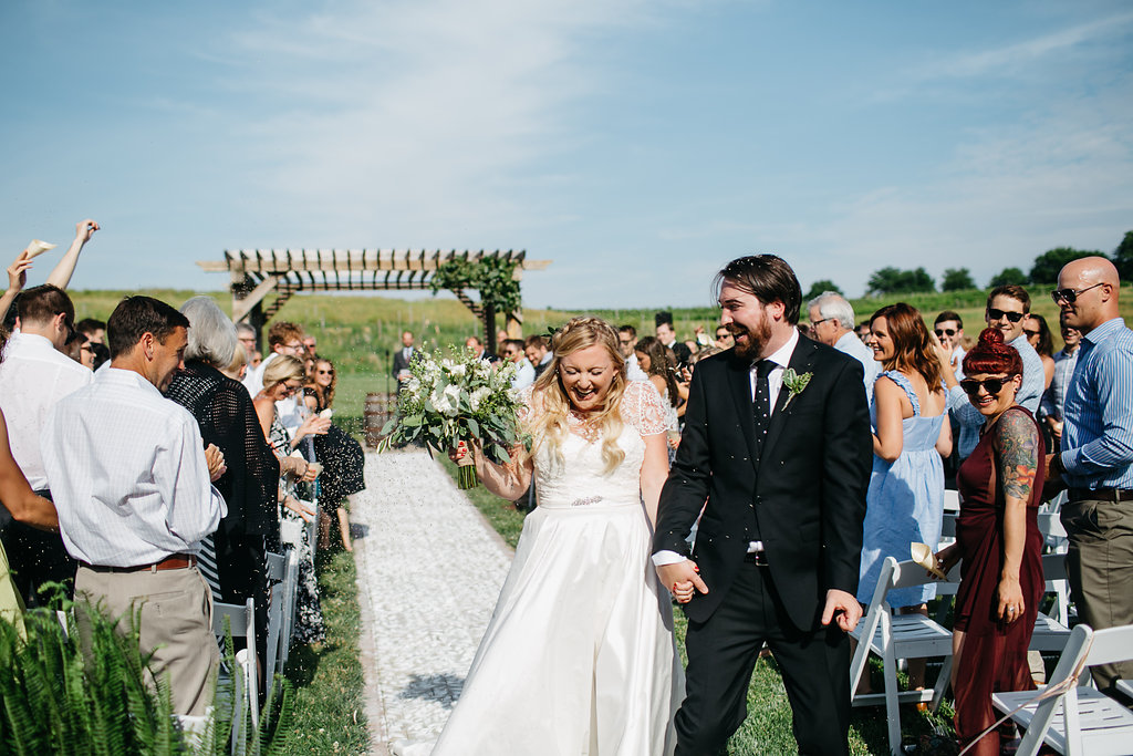 Iowa Midwest Winery Wedding Ceremony