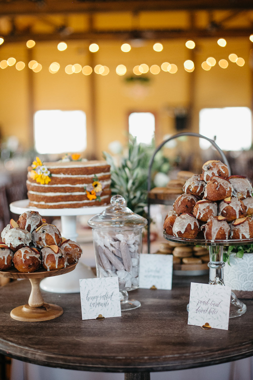 Iowa Midwest Winery Wedding Dessert Display