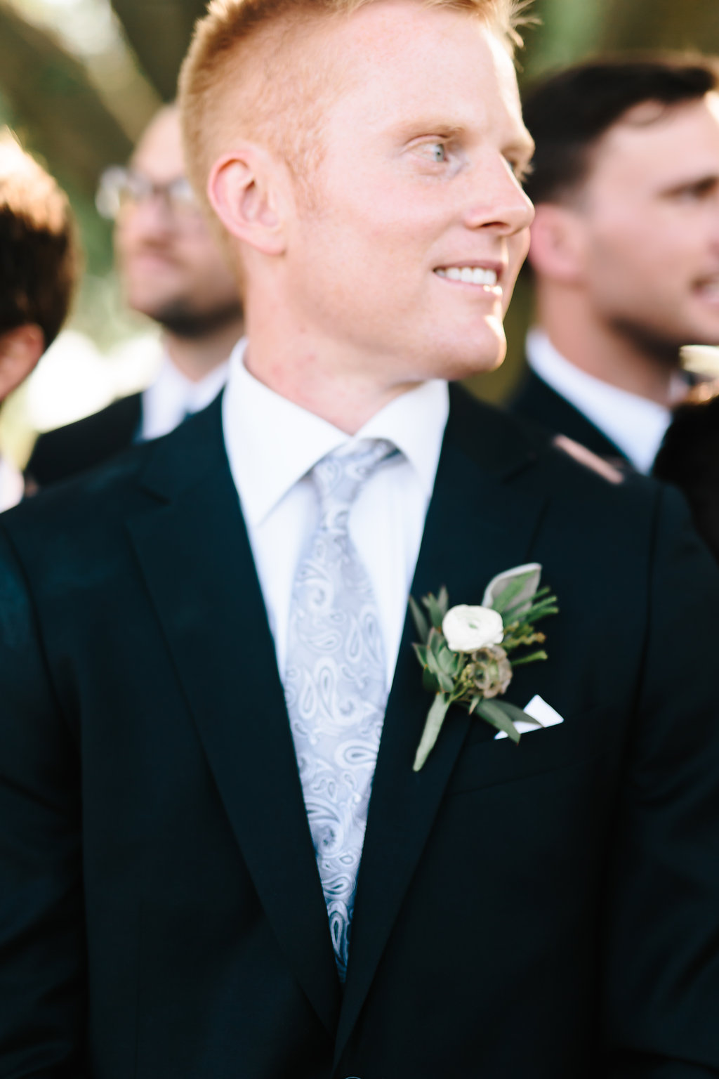 Nebraska Midwest Tent Wedding Groom