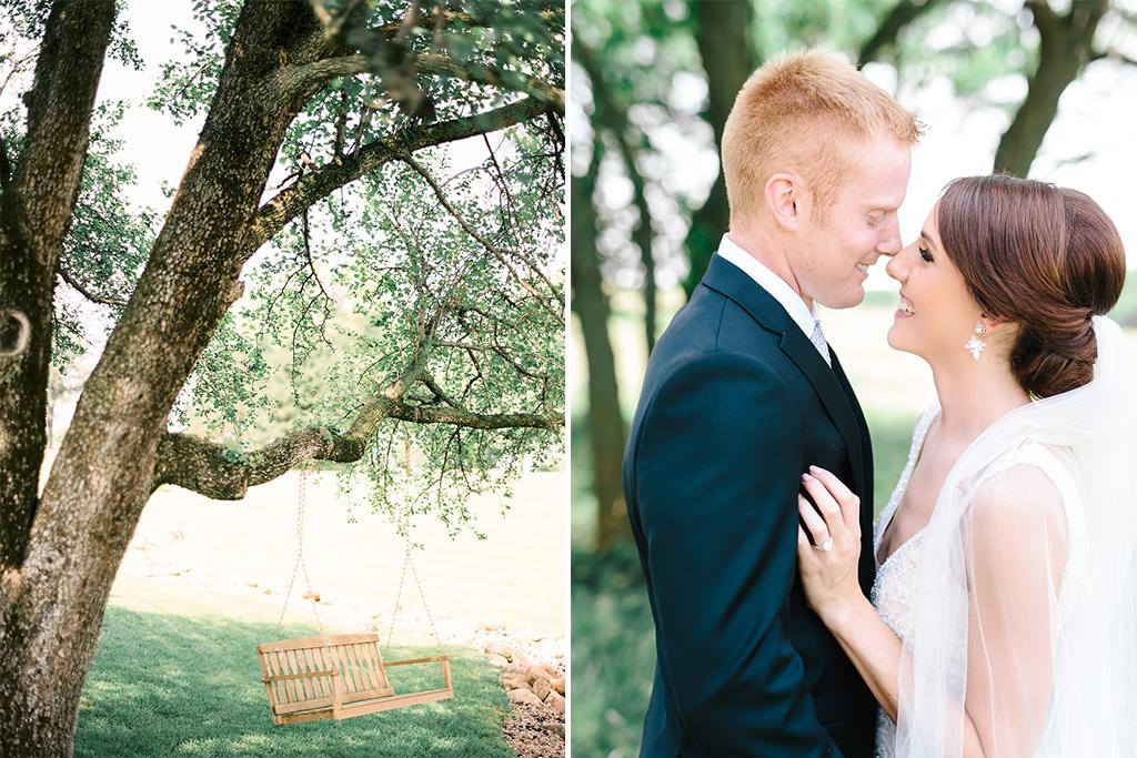 Nebraska Midwest Tent Wedding Bride Groom