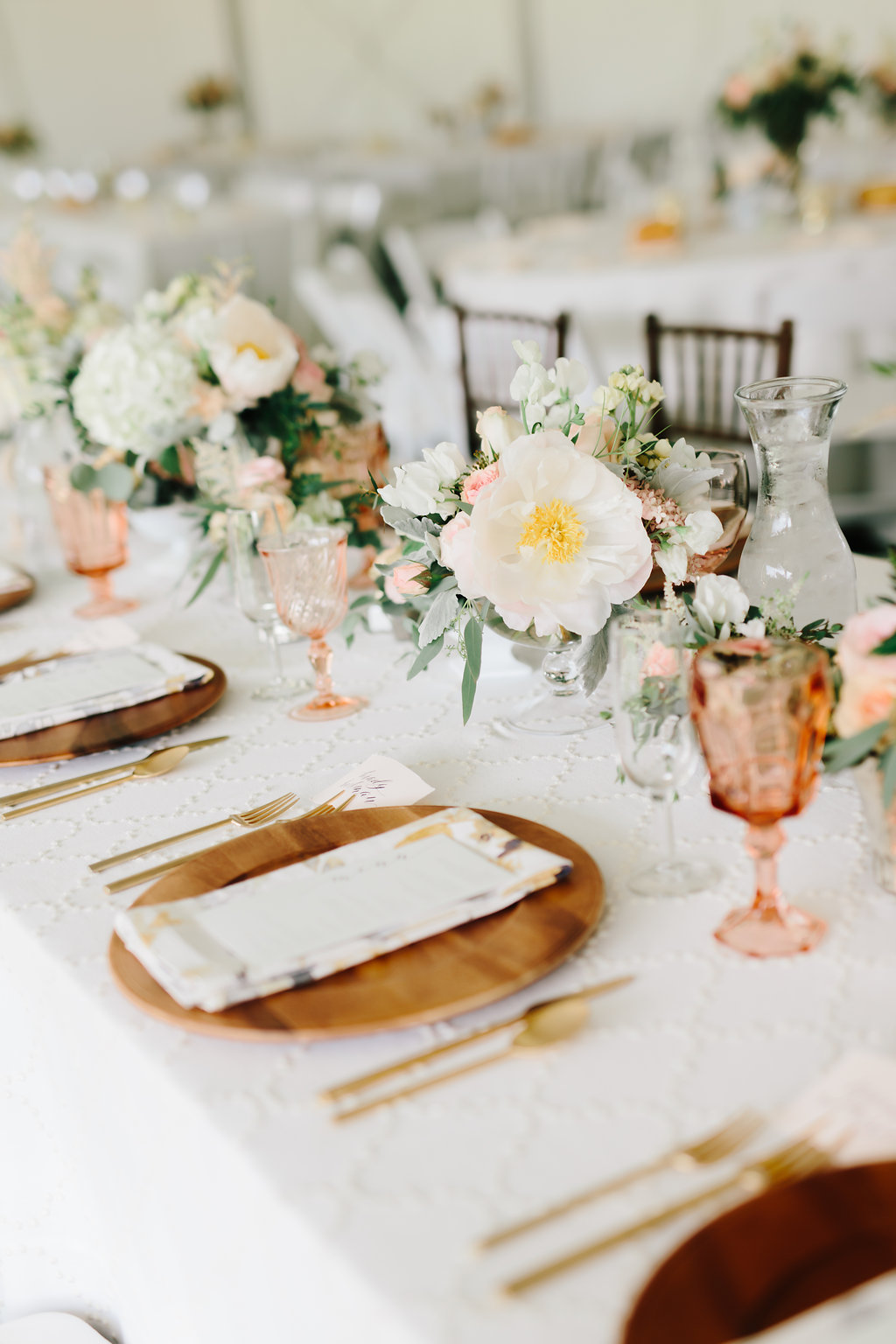 Nebraska Midwest Tent Wedding Head Table