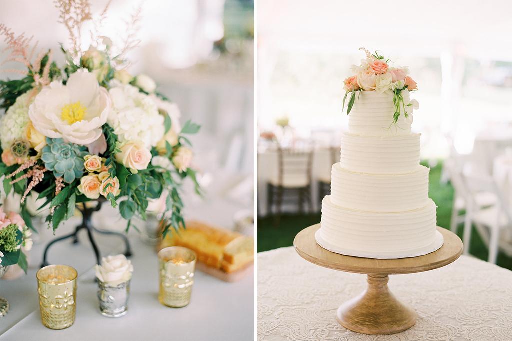 Nebraska Midwest Tent Wedding Flowers Cake