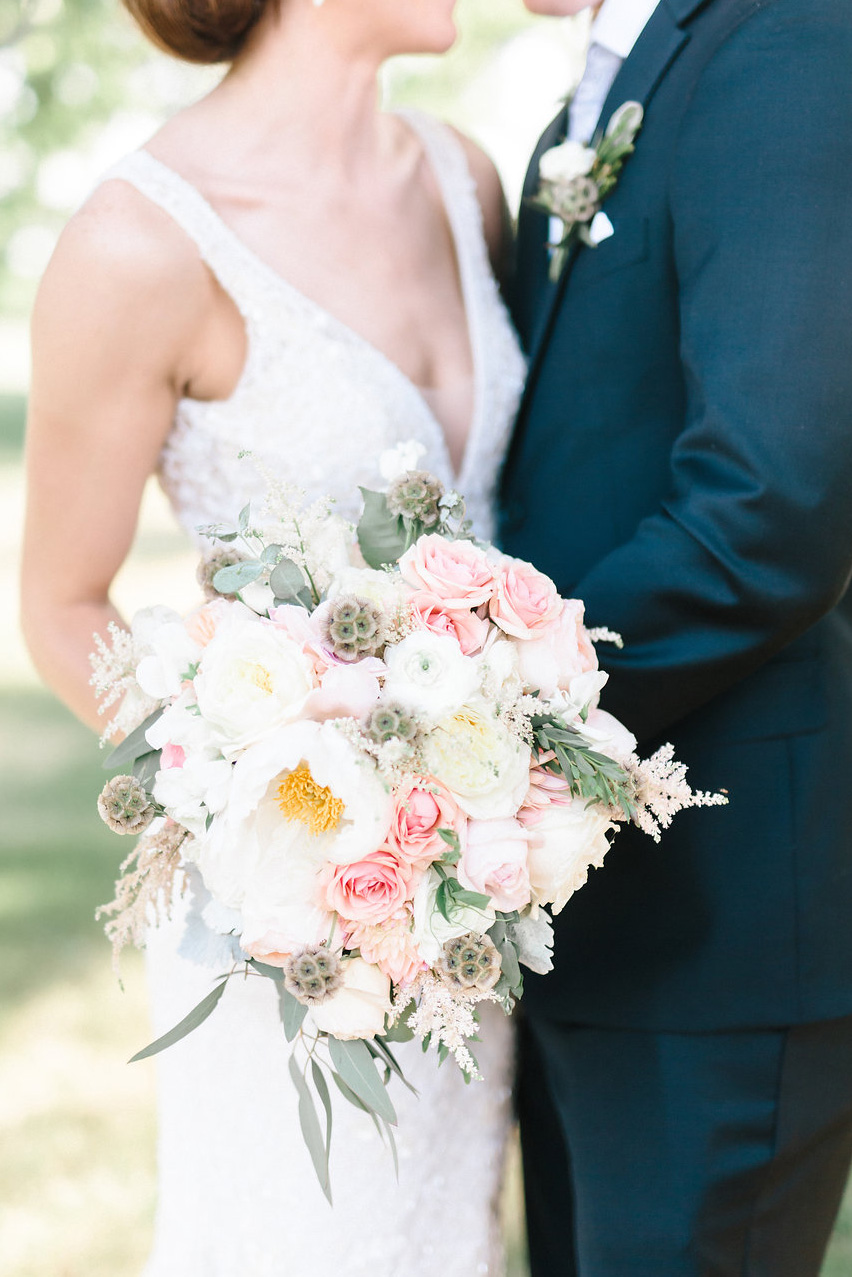 Nebraska Midwest Tent Wedding Bouquet