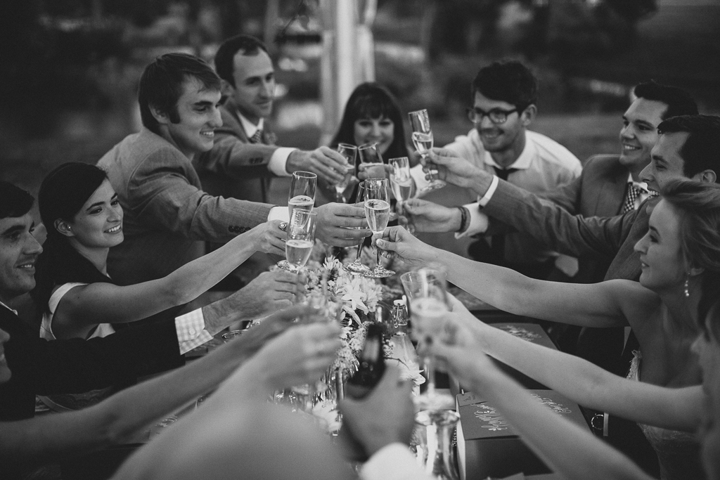 Nebraska Midwest Tent Wedding Toast