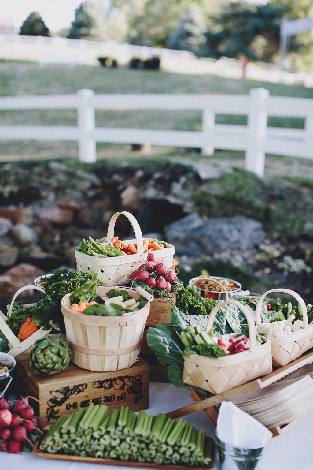 Nebraska Midwest Tent Wedding Crudite