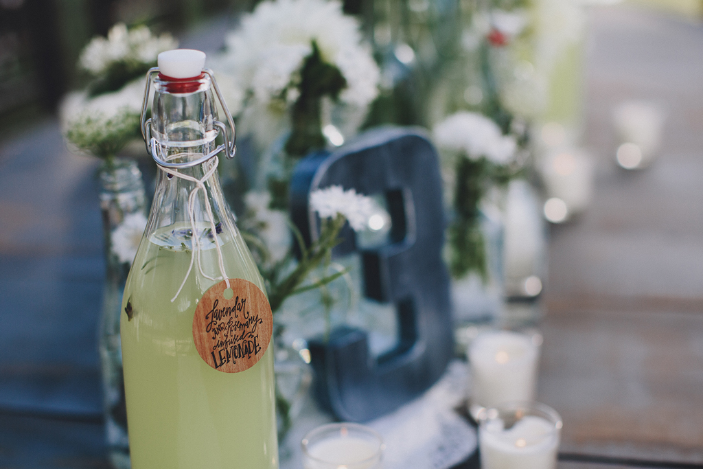 Nebraska Midwest Tent Wedding Lemonade Table Number