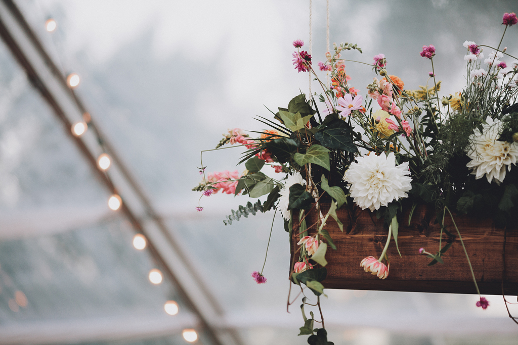Nebraska Midwest Tent Wedding Floral Installation