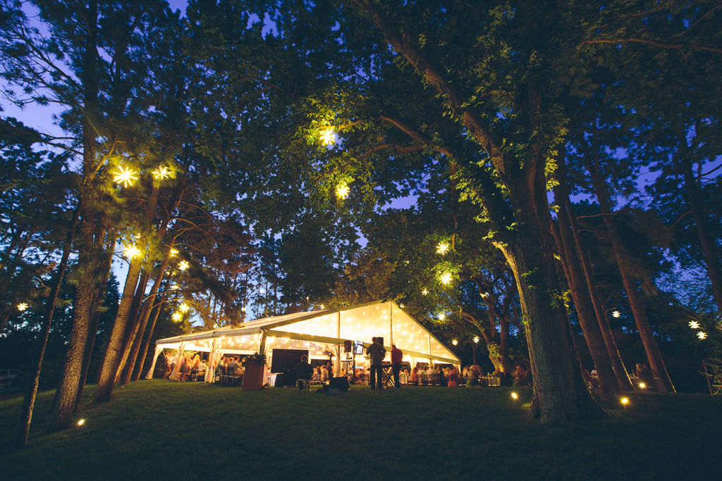 Nebraska Midwest Wedding Lighting Tent