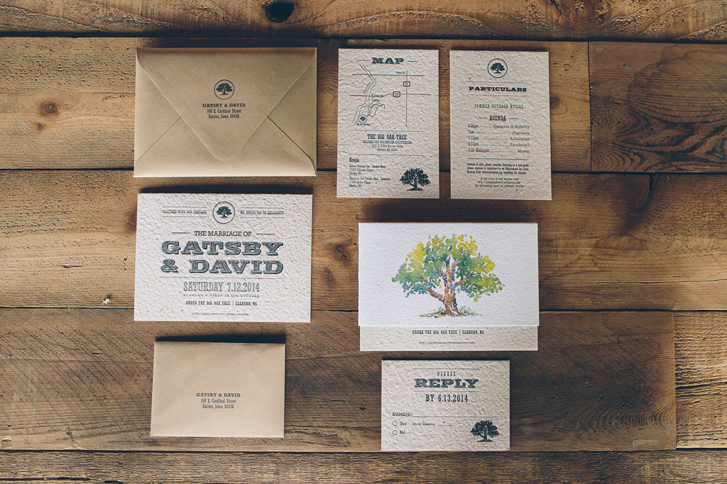 Nebraska Midwest Wedding Invitation Suite