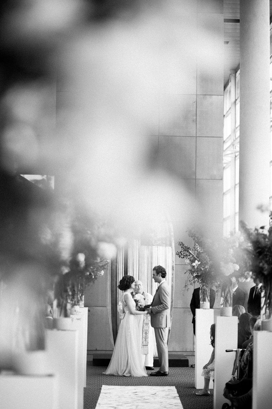 Holland Performing Arts Omaha Nebraska Wedding Ceremony Altar