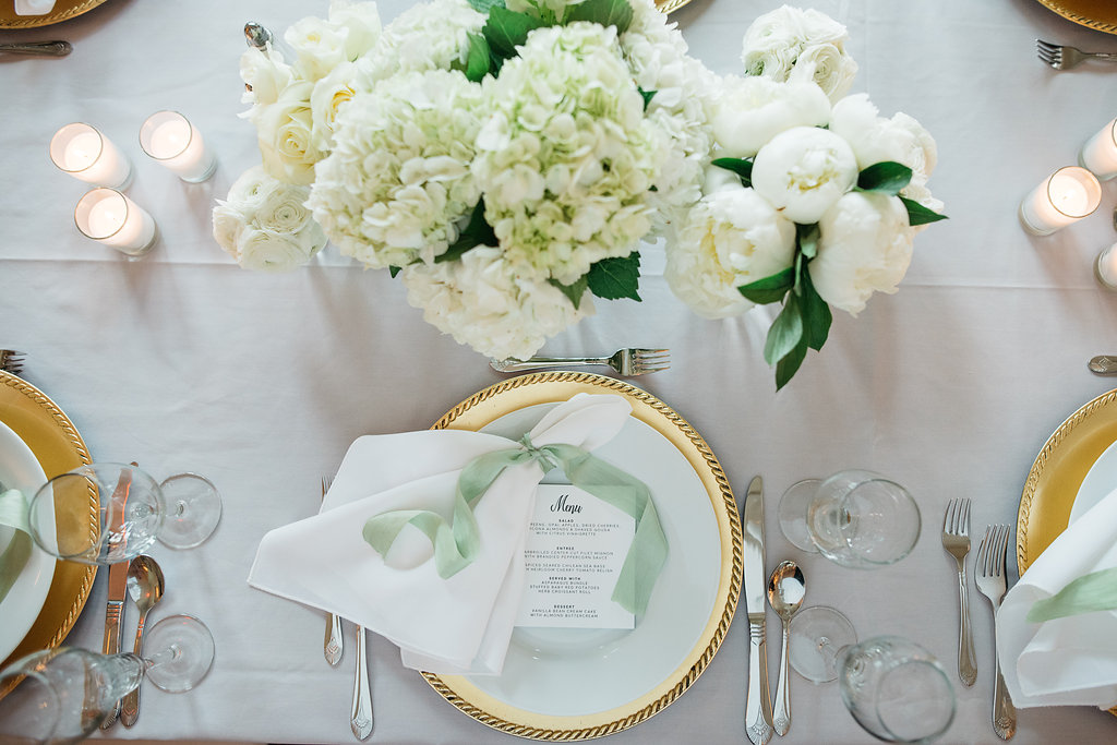 Happy Hollow Country Club Omaha Nebraska Midwest Wedding Place Setting