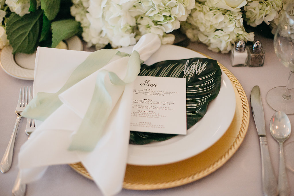 Happy Hollow Country Club Omaha Nebraska Midwest Wedding Head Table Place Setting