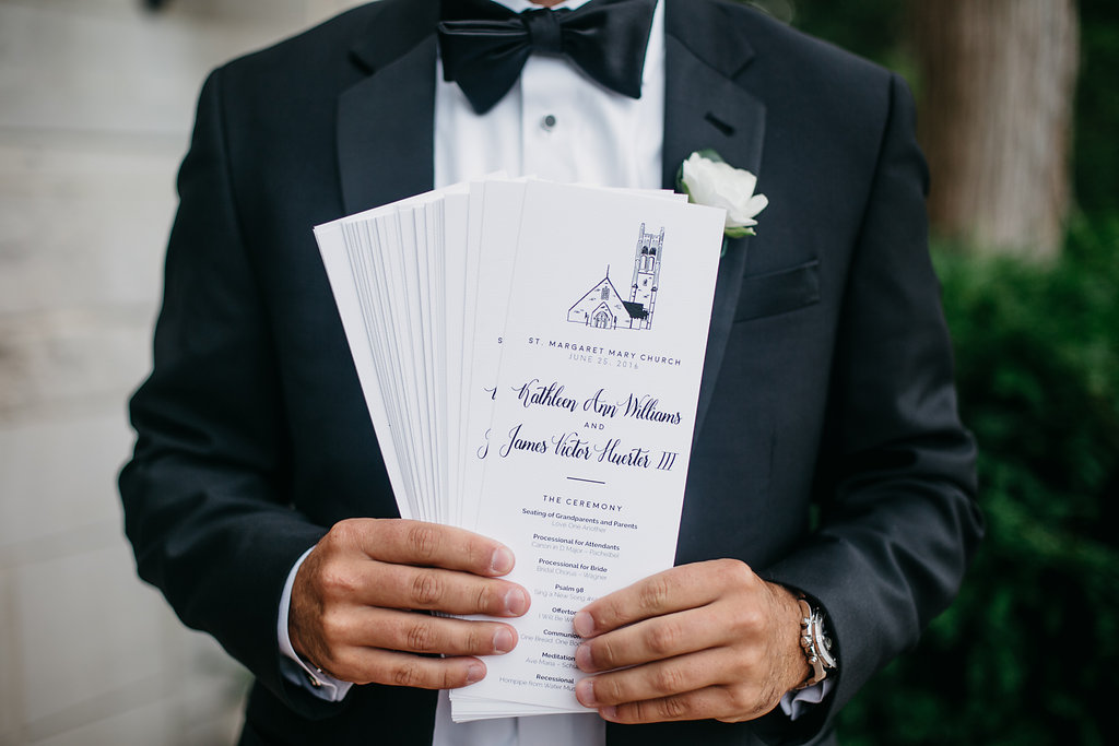 Happy Hollow Country Club Omaha Nebraska Midwest Wedding Ceremony Programs