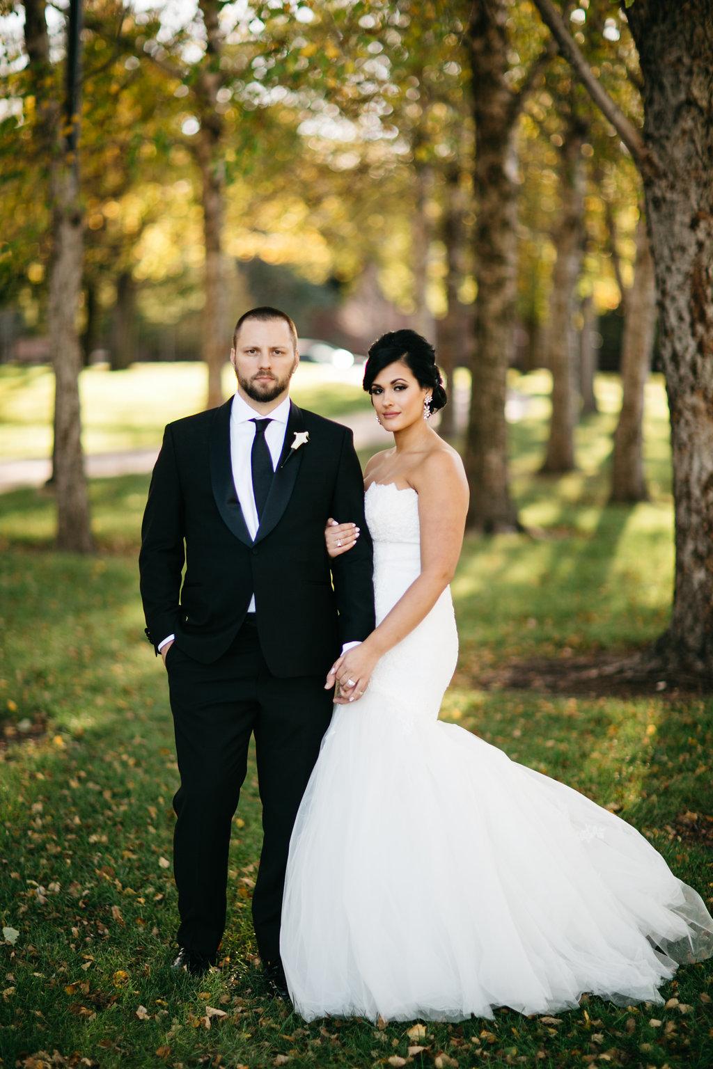 Omaha Nebraska Hilton Hotel Wedding Bride Groom