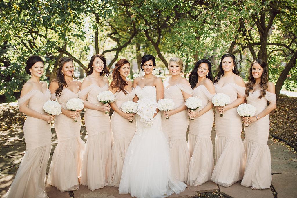 Omaha Nebraska Hilton Hotel Wedding Bridal Party