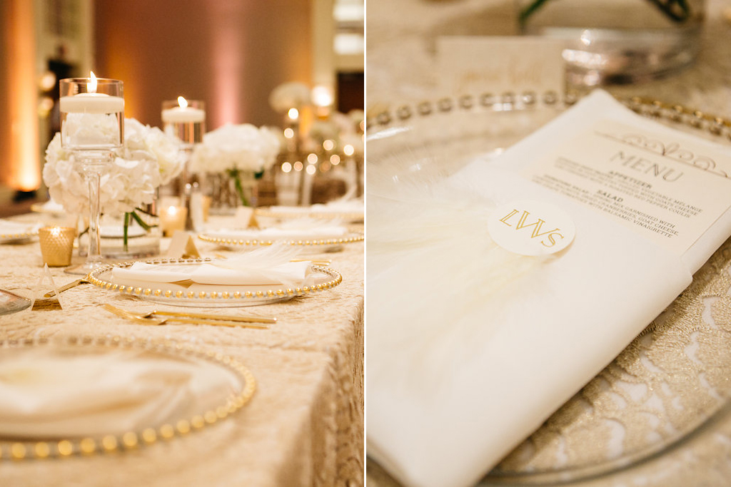 Omaha Nebraska Hilton Hotel Wedding head table details