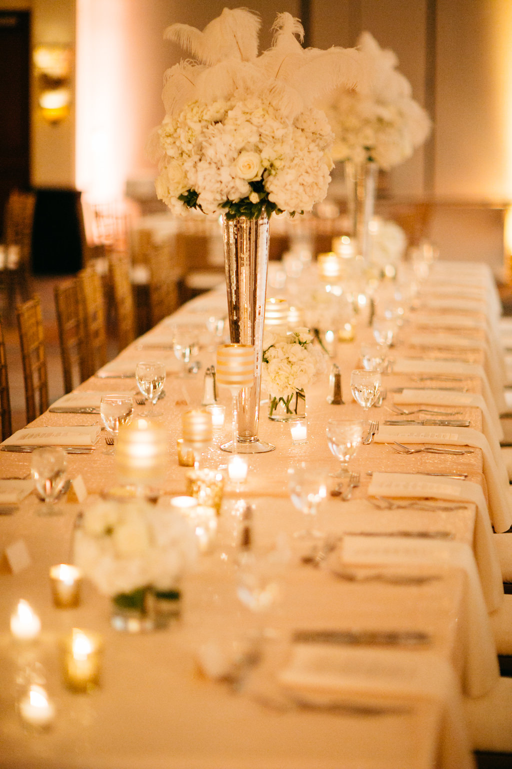 Omaha Nebraska Hilton Hotel Wedding Guest Table