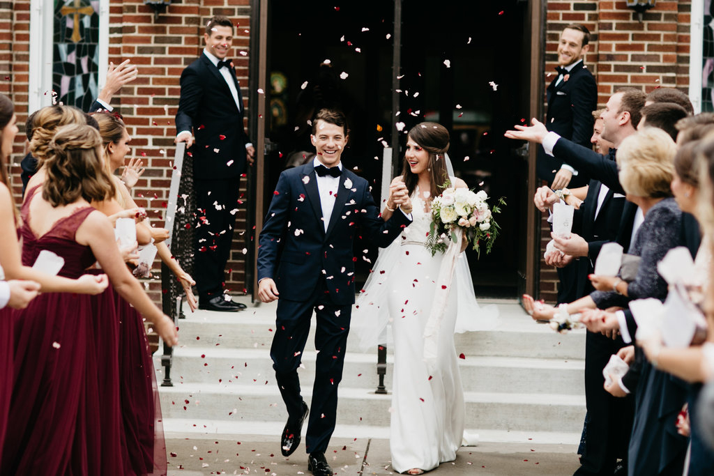 Paxton Ballroom Omaha Nebraska Midwest Wedding Flower Toss