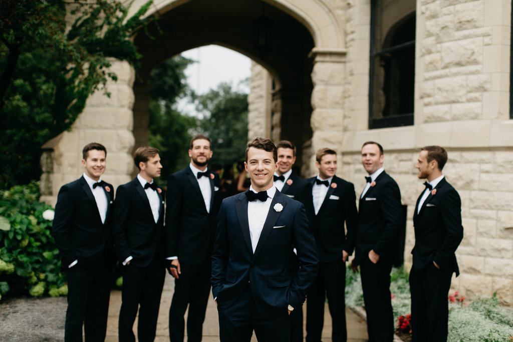 Paxton Ballroom Omaha Nebraska Midwest Wedding Groomsmen