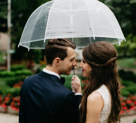 Paxton Ballroom Omaha Nebraska Midwest Wedding Couple Umbrella
