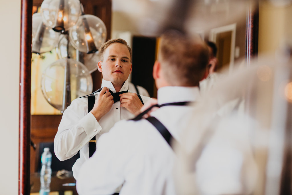Joslyn Art Museum Omaha Nebraska Midwest Wedding Groom Getting Ready