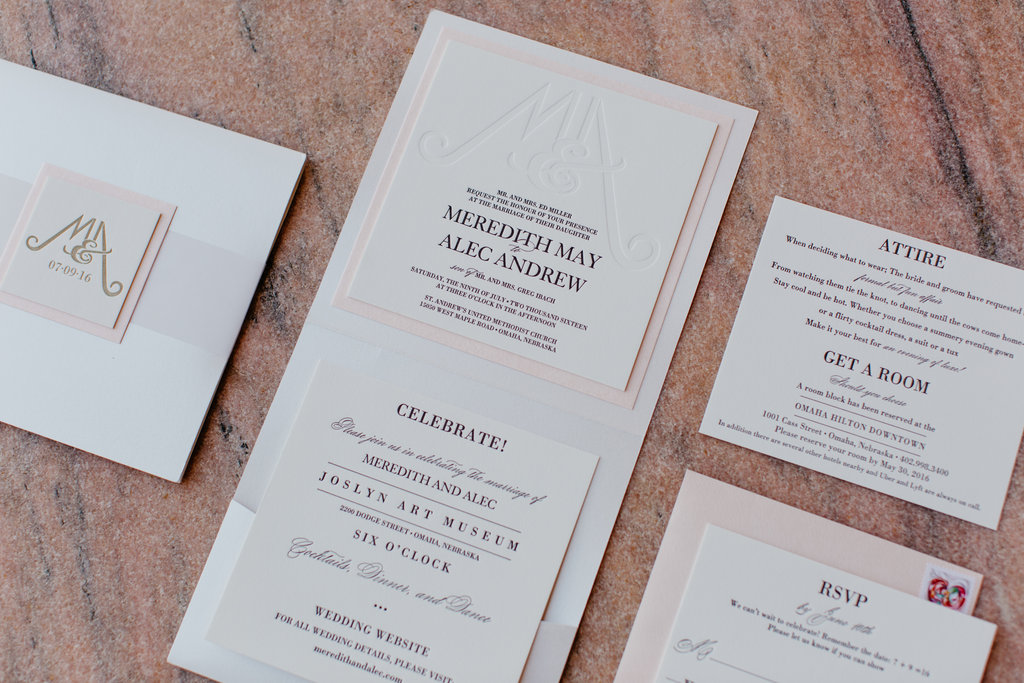 Joslyn Art Museum Omaha Nebraska Midwest Wedding Invitations