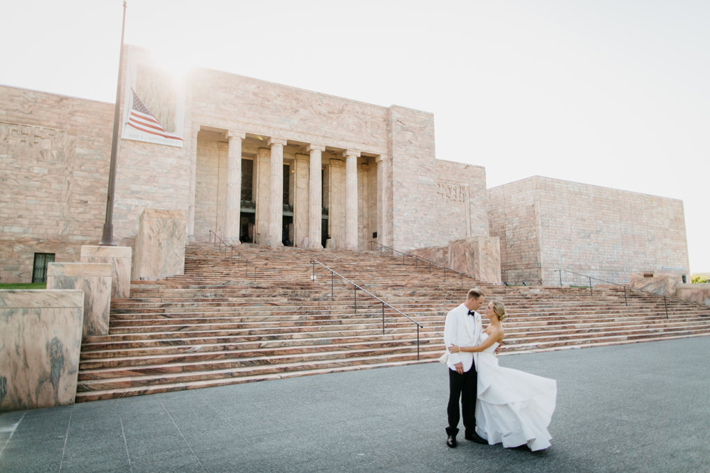 Joslyn Art Museum Omaha Nebraska Midwest Wedding Bride Groom