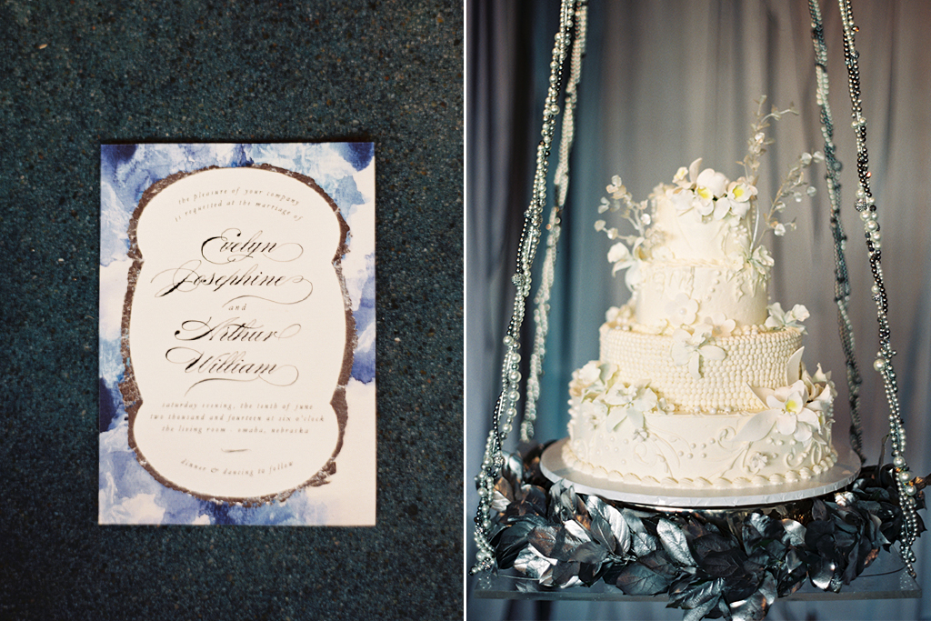 Mermaid Wedding Styled Shoot Invitation Cake