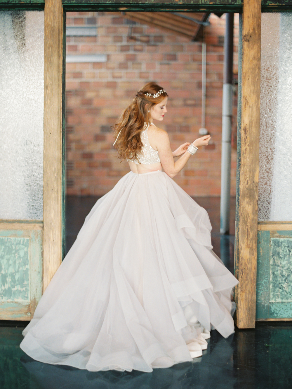 Mermaid Wedding Styled Shoot Bride Back