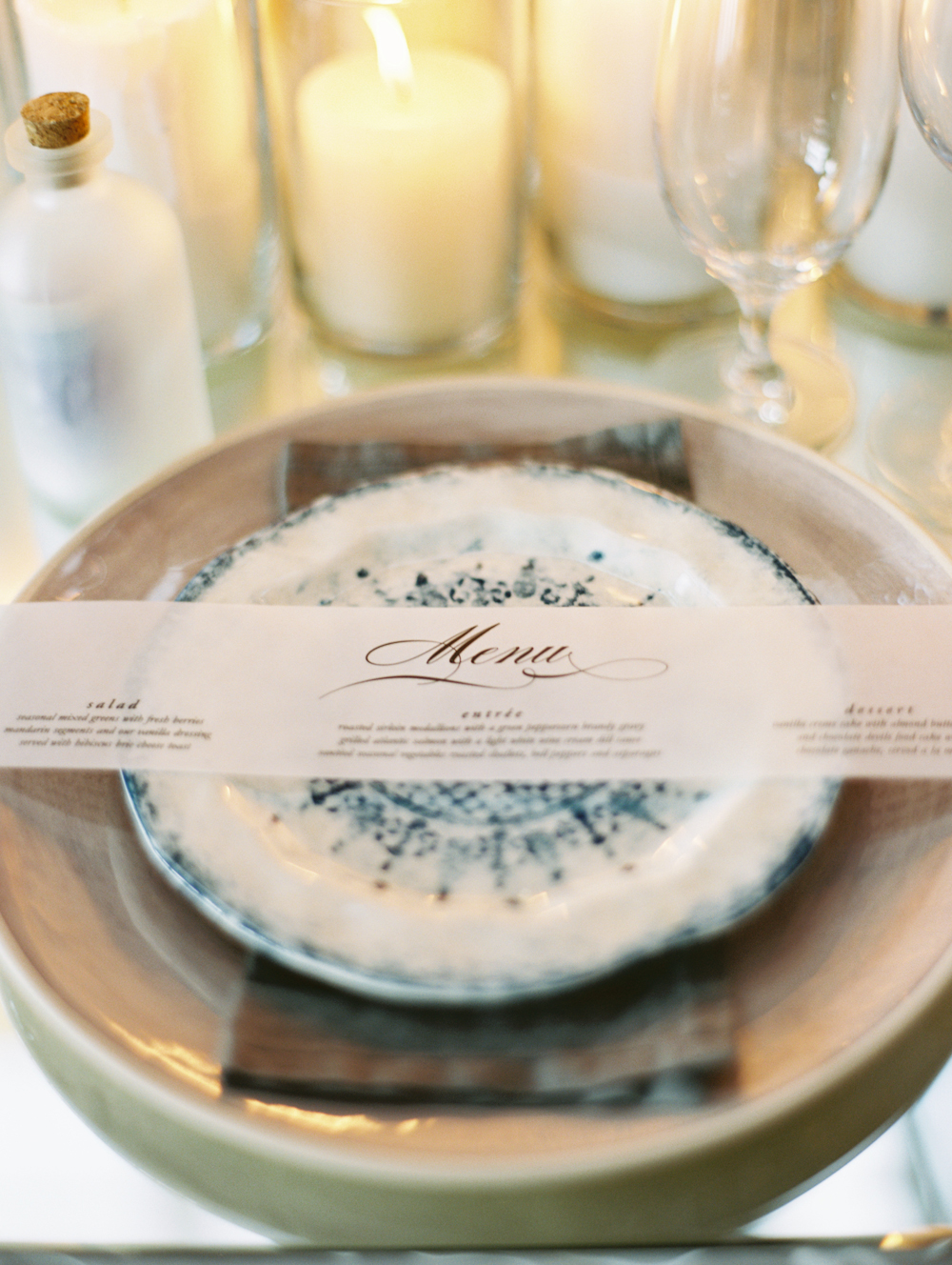 Mermaid Wedding Styled Shoot Menu