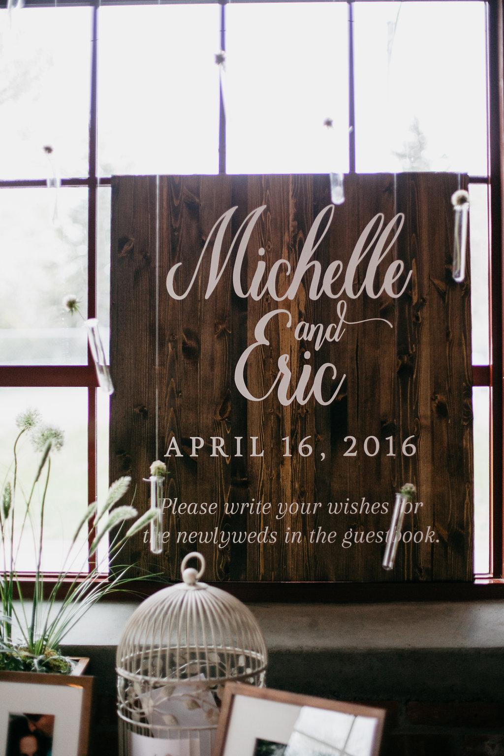 Omaha Nebraska Midwest Wedding Welcome Sign