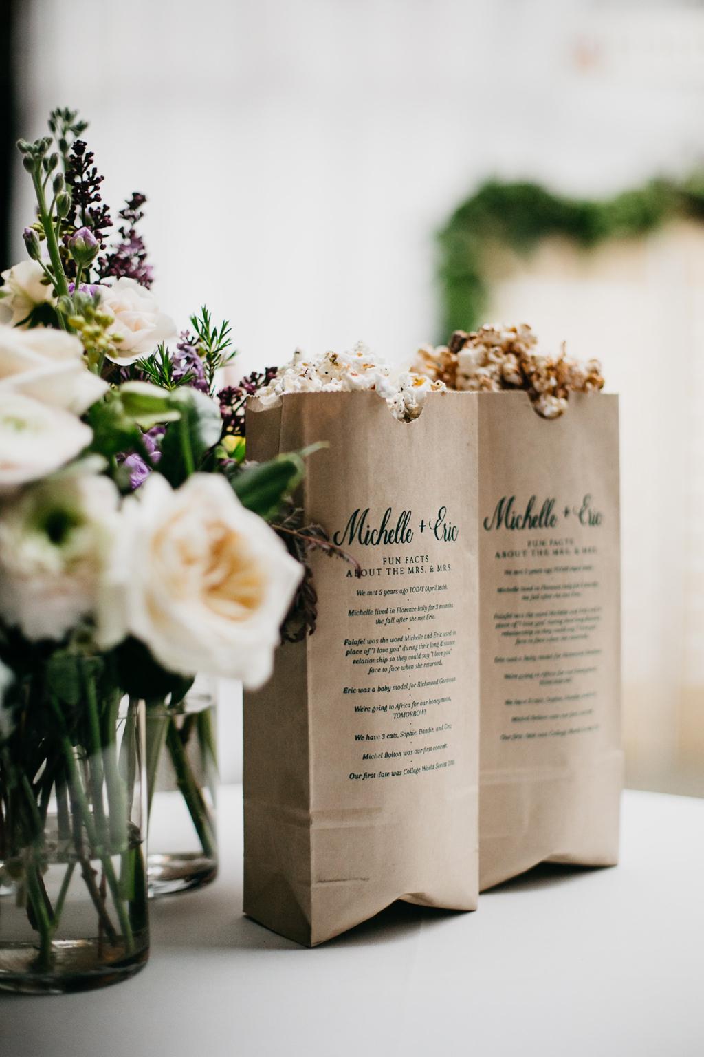 Omaha Nebraska Midwest Wedding popcorn details