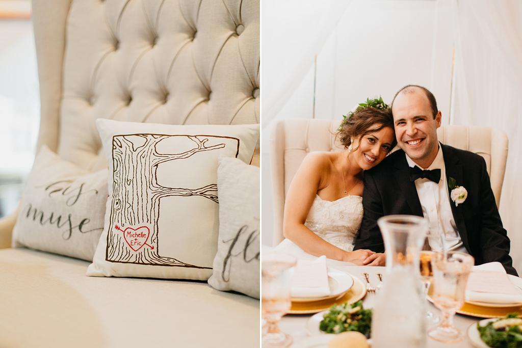 Omaha Nebraska Midwest Wedding Sweetheart Table Details