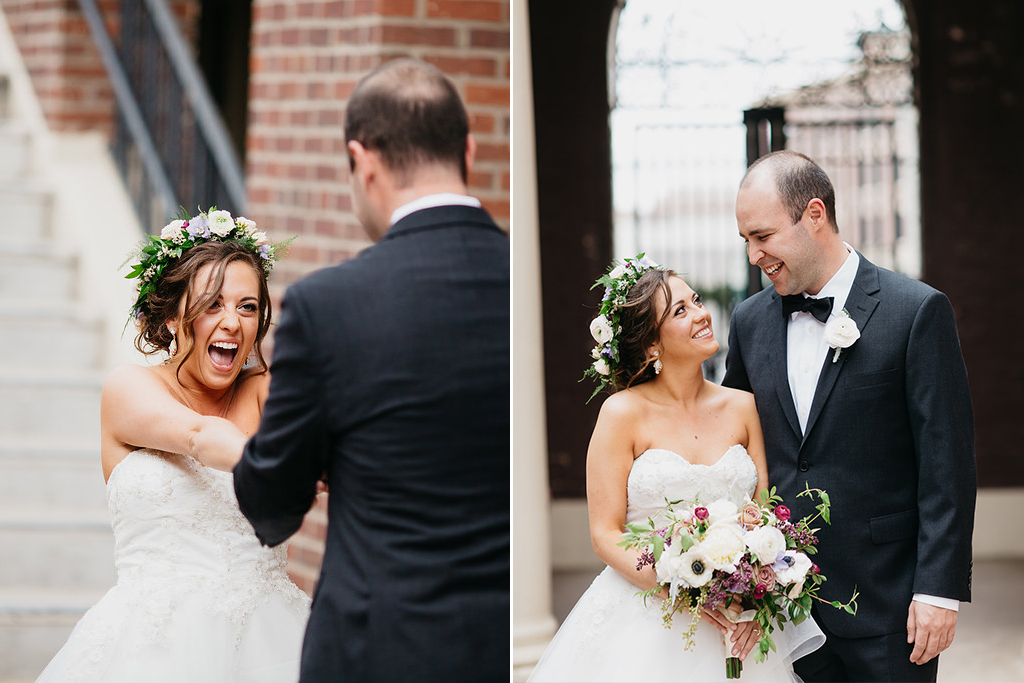 Omaha Nebraska Midwest Wedding First Look