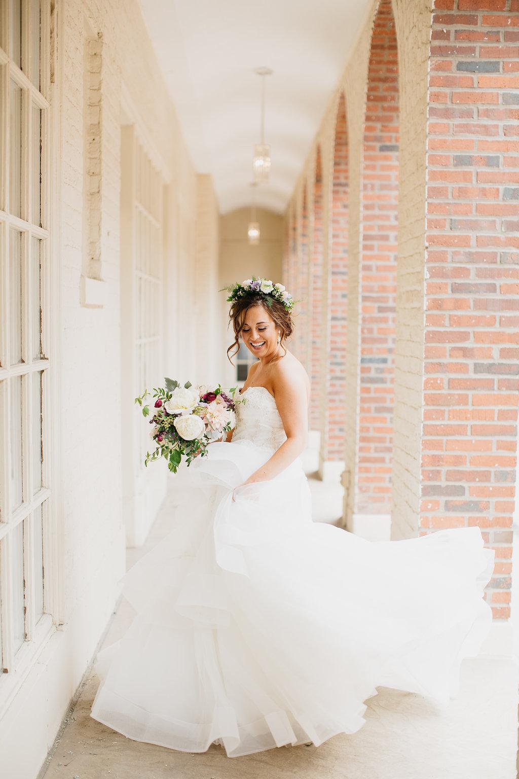 Omaha Nebraska Midwest Wedding Bride Twirl