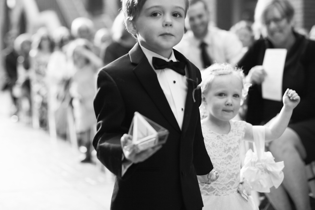 Omaha Wedding Magnolia Hotel Ring Bearer Flower Girl