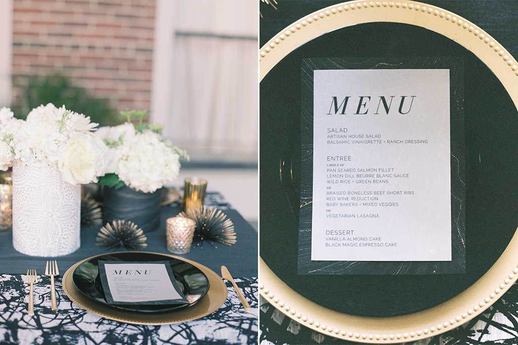 Omaha Midwest Wedding Magnolia Hotel Tablescape Menu