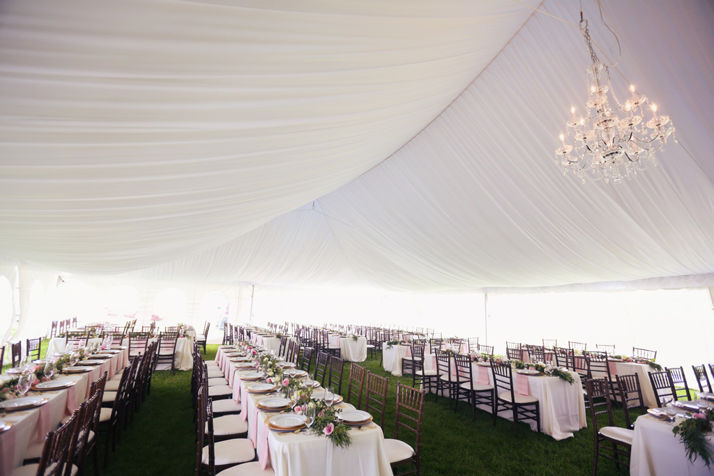 Nebraska Midwest Wedding Pleated Tent