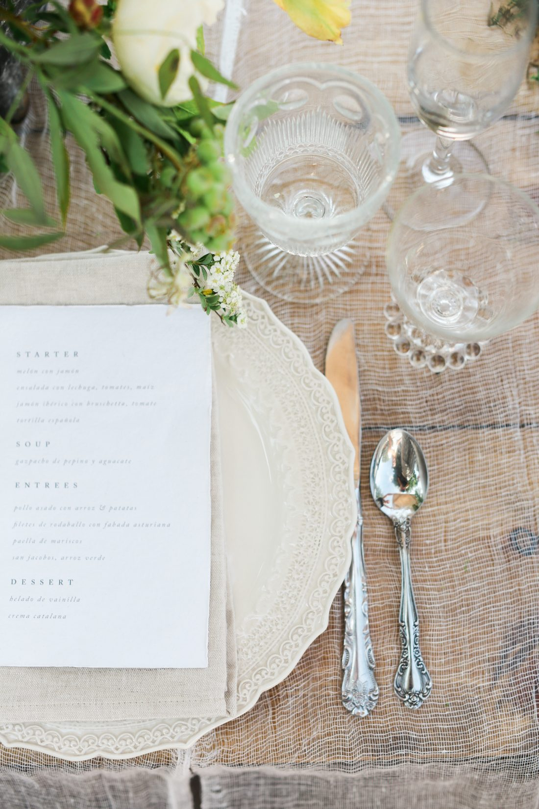 Mildale Farms Kansas City Wedding place setting