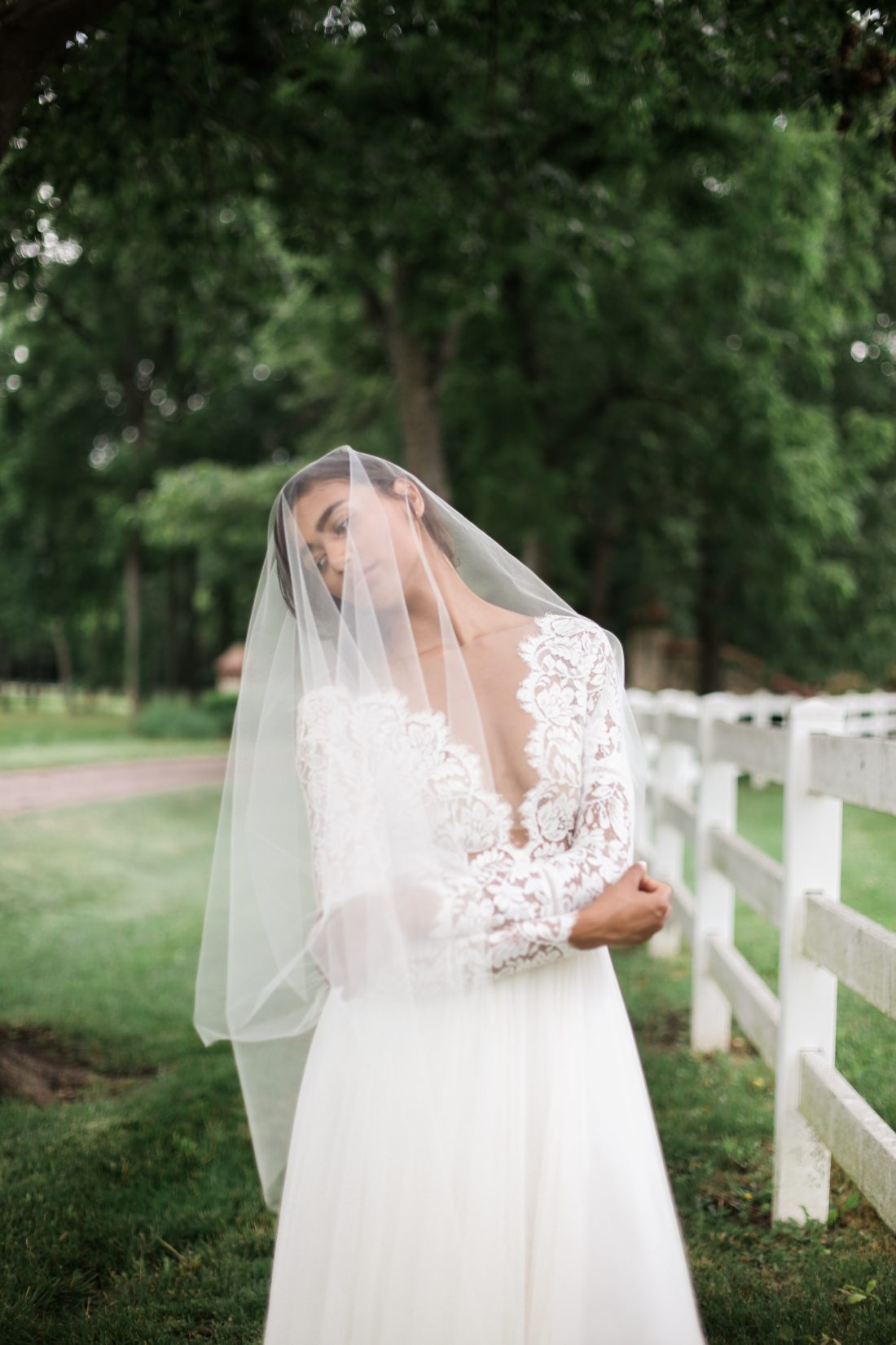 Mildale Farms Kansas City Wedding bride
