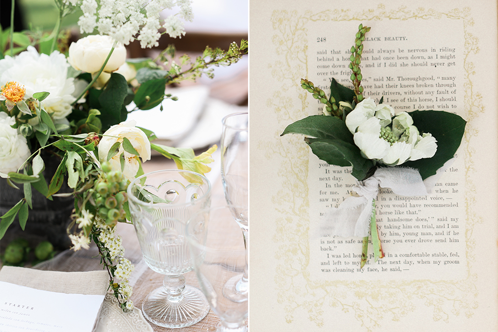 Mildale Farms Kansas City Wedding table personal flowers