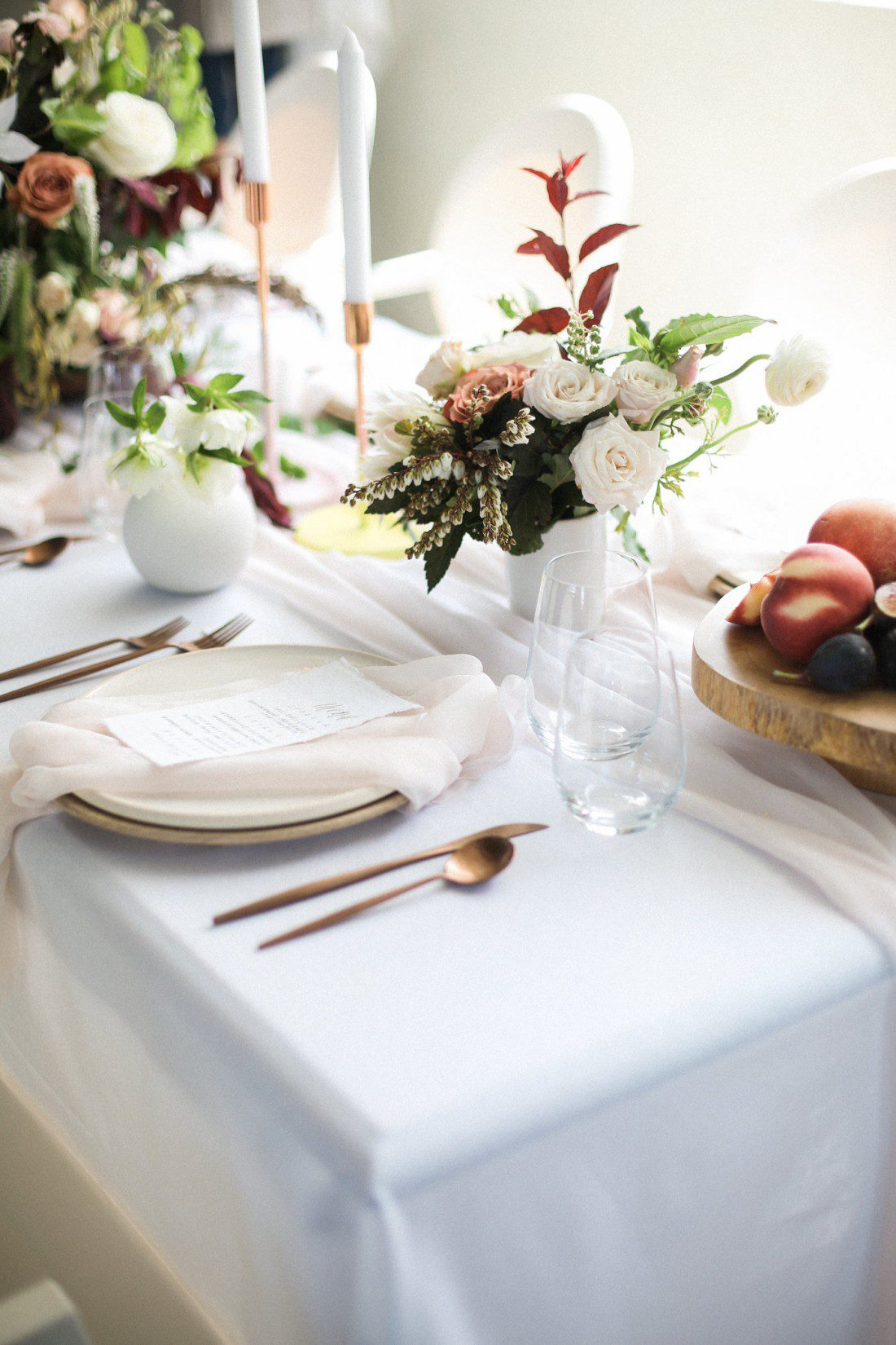 Kansas City Wedding Styled Shoot Winery Flowers Place Setting Gold Flatware