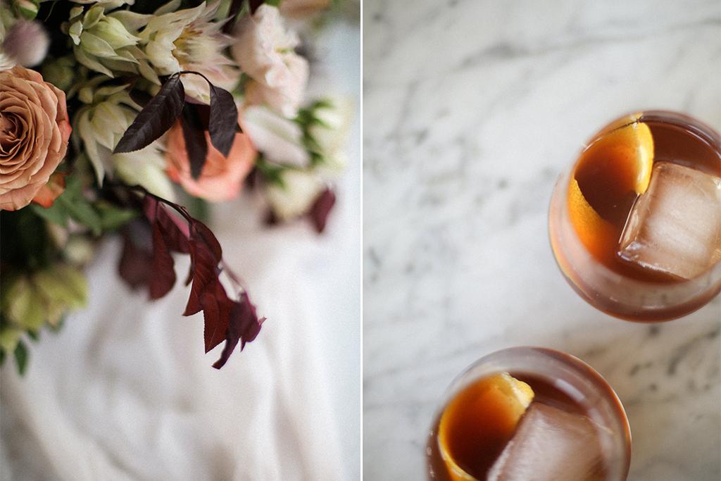 Kansas City Wedding Styled Shoot Winery Flowers Signature Drink