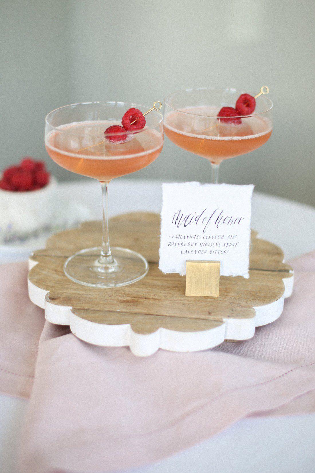 Kansas City Wedding Styled Shoot Winery Signature Drink