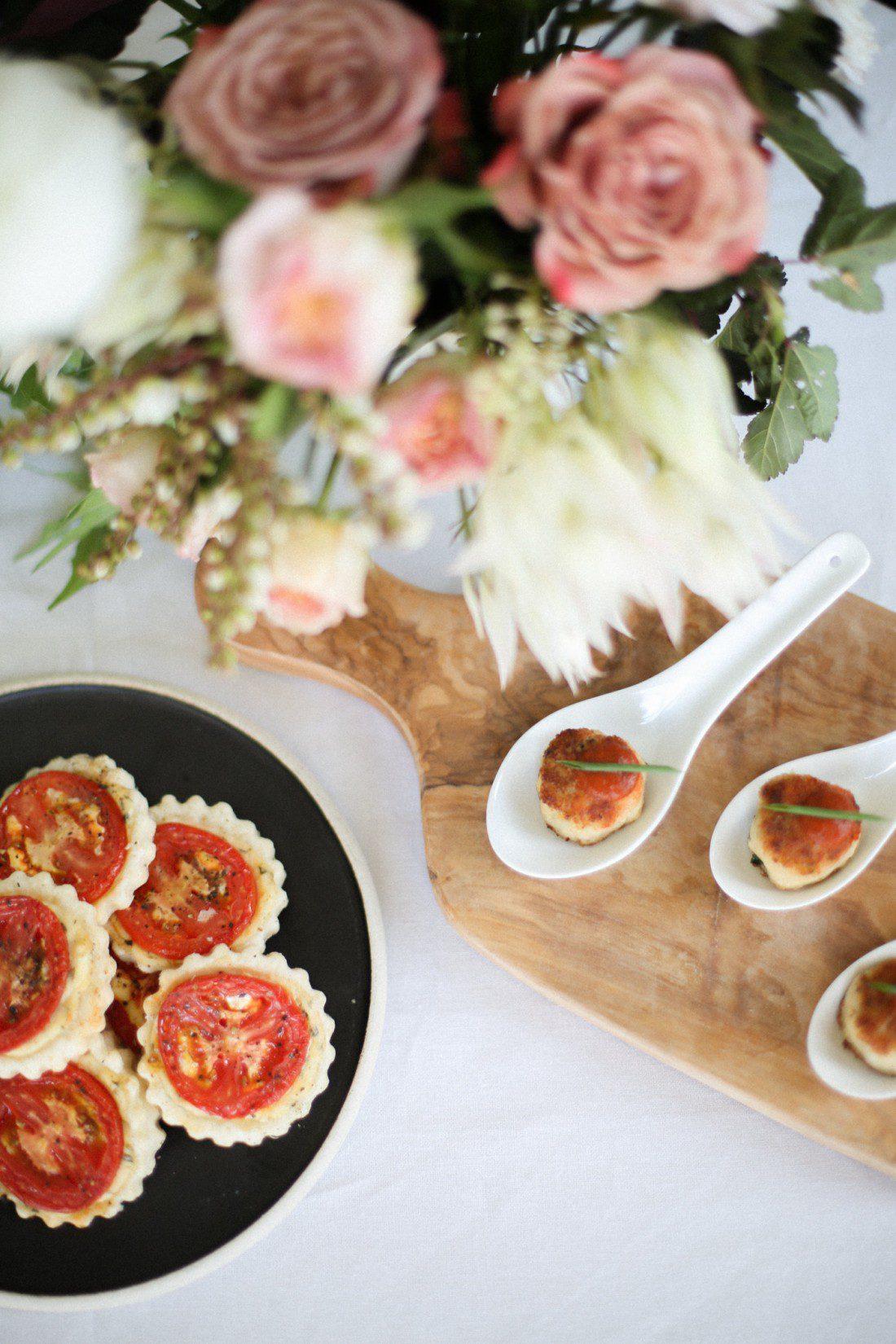Kansas City Wedding Styled Shoot Winery Appetizer Tomato Tartlet