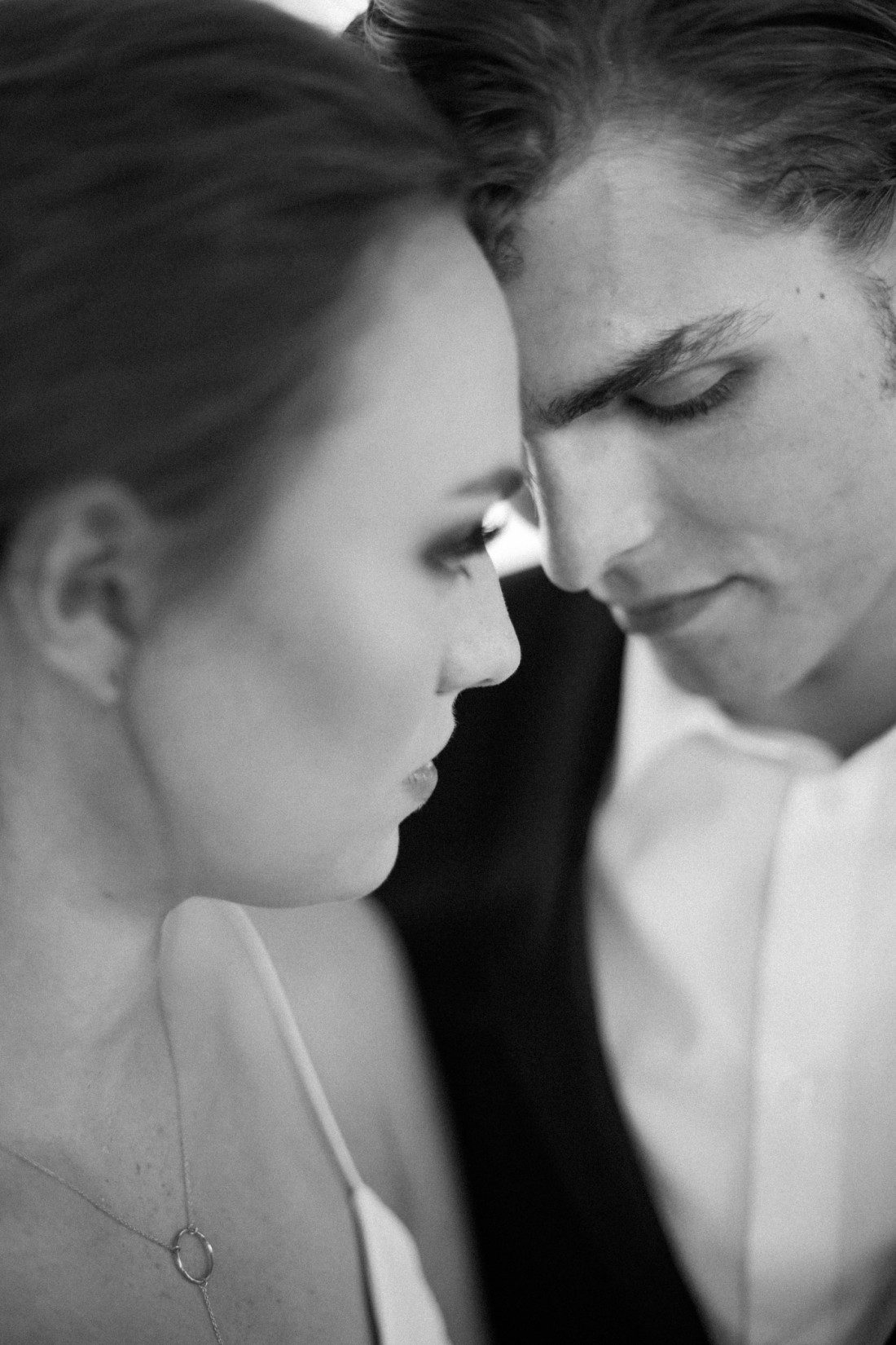 Kansas City Wedding Styled Shoot Winery Black and White Bride Groom Models