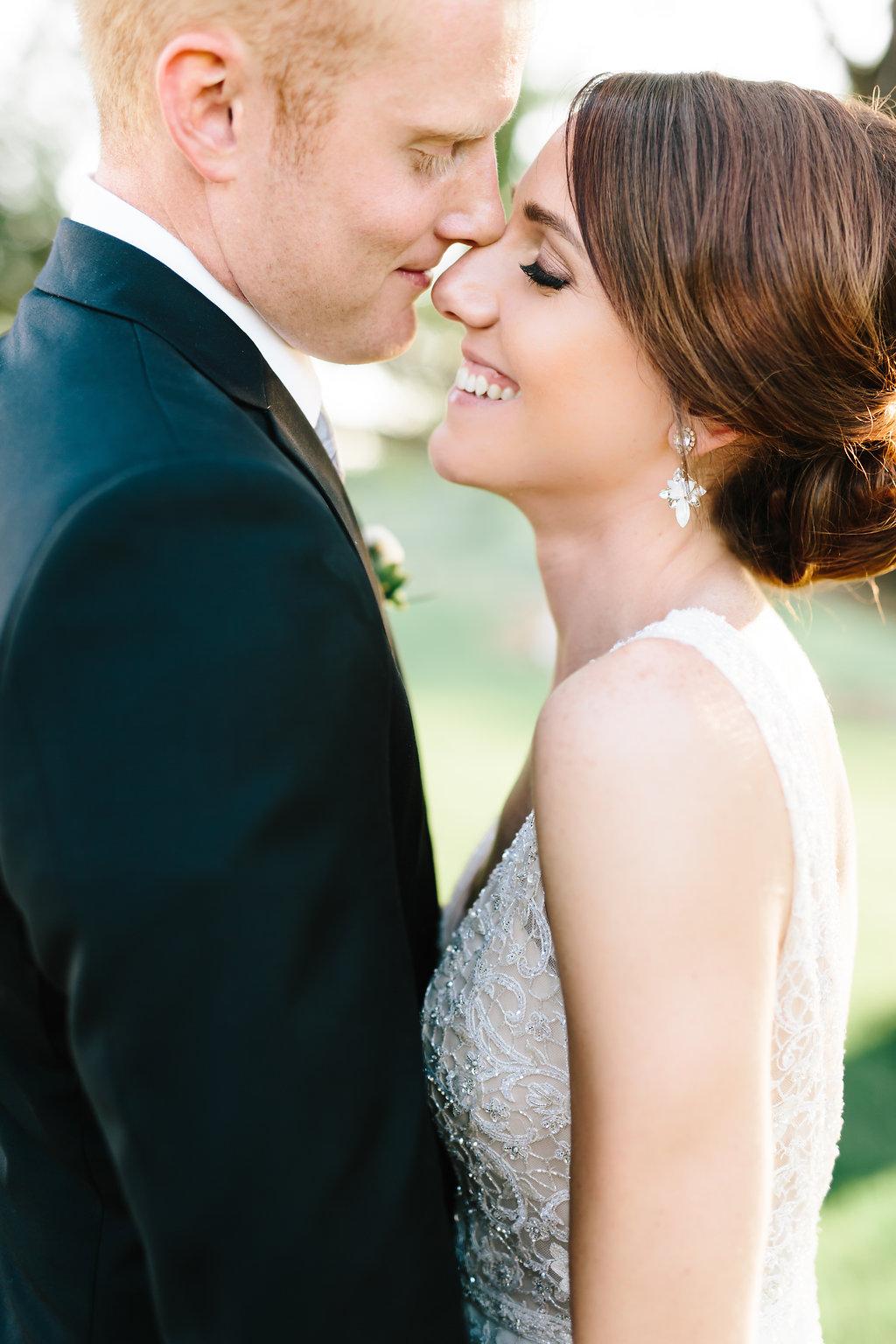 Nebraska Midwest Tent Wedding Couple