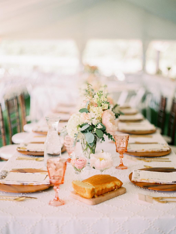 Nebraska Midwest Tent Wedding Head Table